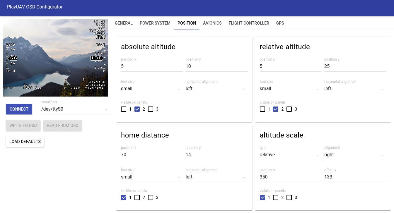 OSD Config tool for Linux ? - PLAYUAV - Home For UAV Players